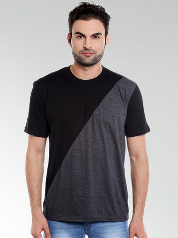 DIAGONAL BLACK RN TSHIRT