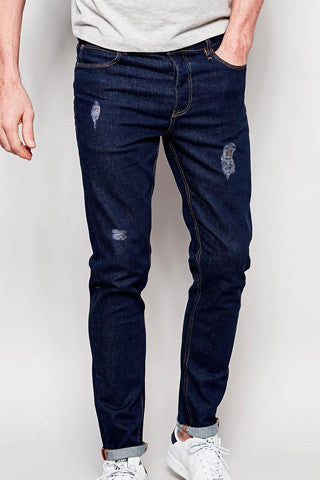 Rouched Denim