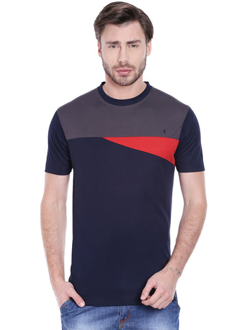 ACTIVE DRY ARROW PATTERNED TSHIRT - BLUE