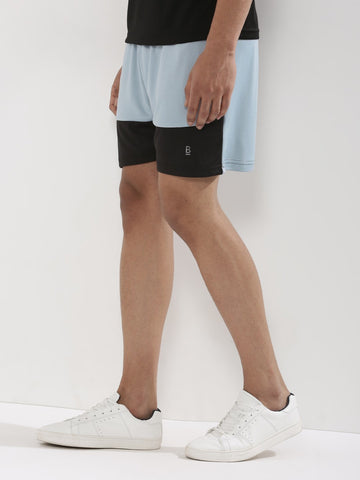 ACTIVE DRY CONTRAST CUT AND SEW SHORT - GREY/BLACK