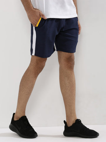 Active Shorts With Contrast Panel - Black