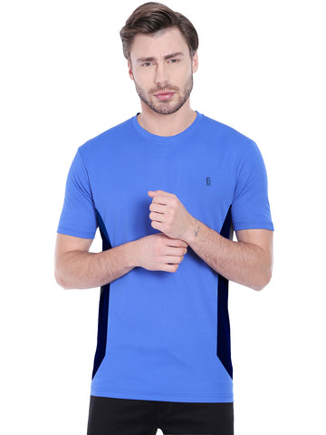 ACTIVE DRY VERTICAL STRIPE TSHIRT- BLUE