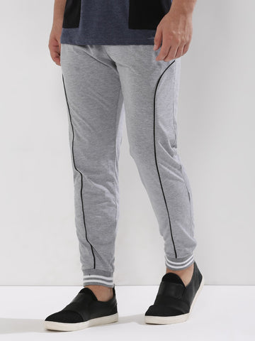 Striped Cuff Joggers - Grey