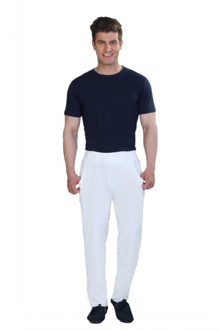White Lounge Pants -Men