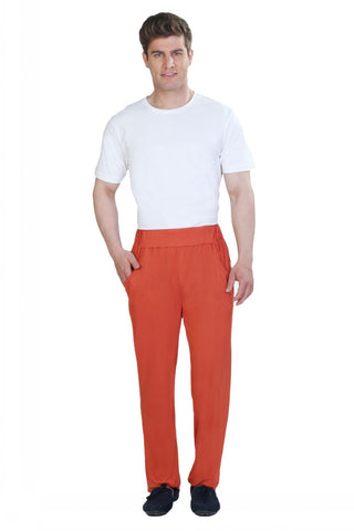 Orange Lounge Pants - Men