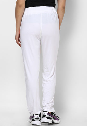 White Lounge Pants - Women