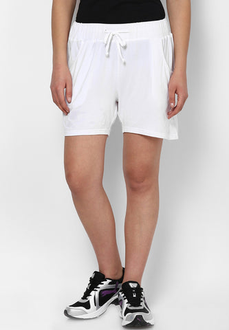 White Lounge Shorts - Women