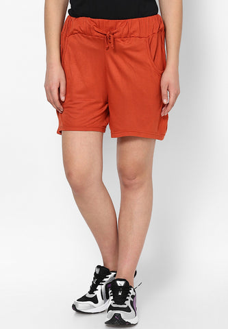 Orange Lounge Shorts - Women