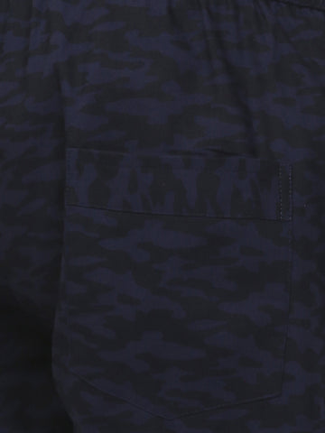 Camoflague Cotton Tracks Navy