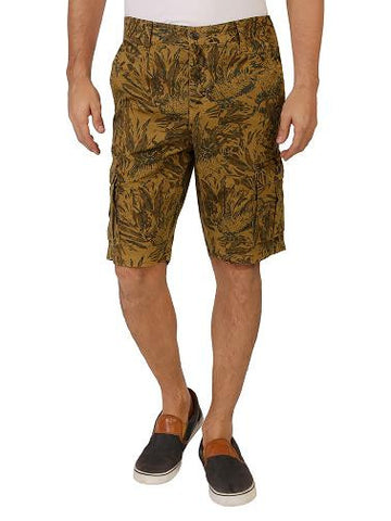 Green Camouflage Cotton Shorts