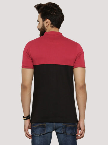 Dual Tone Panel Polo Tshirt