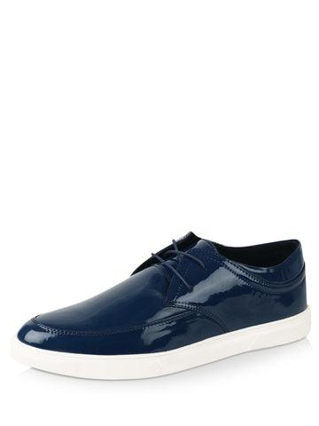 Patent Leather Blue Lace Shoes