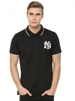 Black Tipping Polo with NY Logo