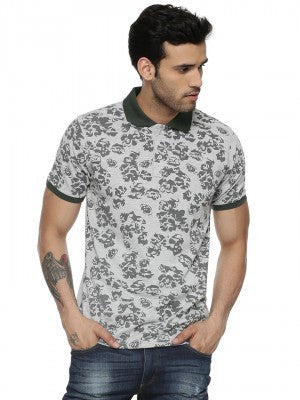 Subdued Floral Polo Tshirt