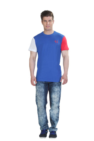 Color Block Tshirt Blue