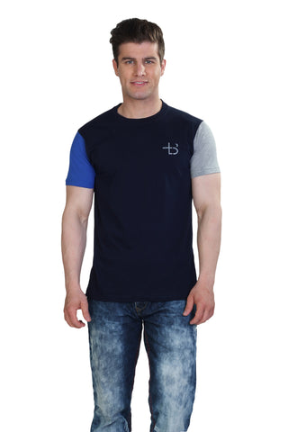 Color Block Tshirt Dark Navy