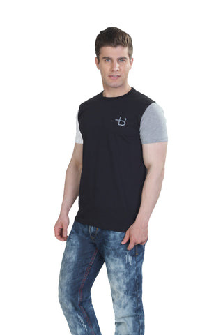 Color Block Tshirt Black