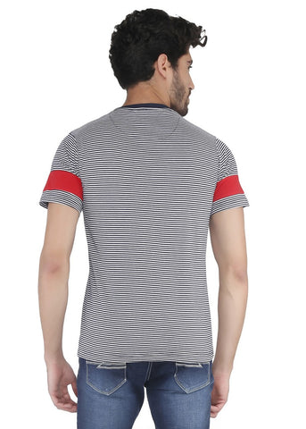 Thin Stripes Round Neck Tshirt