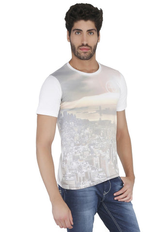 World Printed Round Neck Tshirt