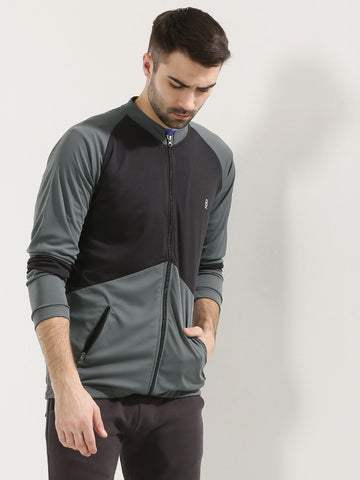 ACTIVE DRY PANEL JACKET WITH ZIPPER