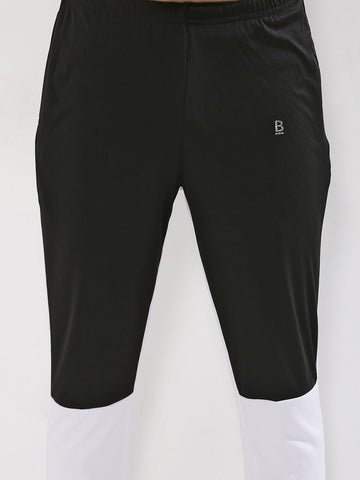 ACTIVE CUT AND SEW JOGGER - BLACK WHITE