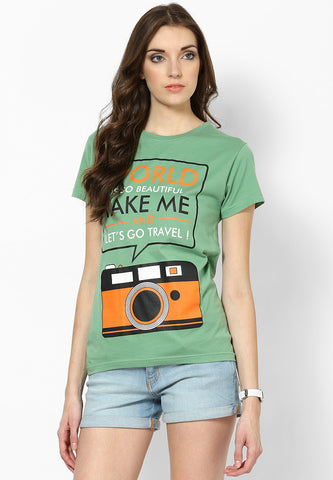 Travel - 100% Organic Tshirt