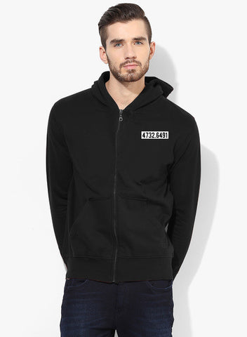 Numbered Zipper With Hood