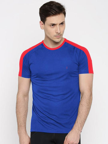 ACTIVE DRY SHOULDER STRIPE TSHIRT - R BLUE