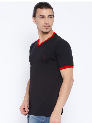 ACTIVE DRY SLEEVE TIP TSHIRT - NAVY