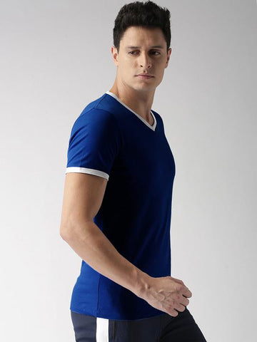 ACTIVE DRY SLEEVE TIP TSHIRT - BLUE