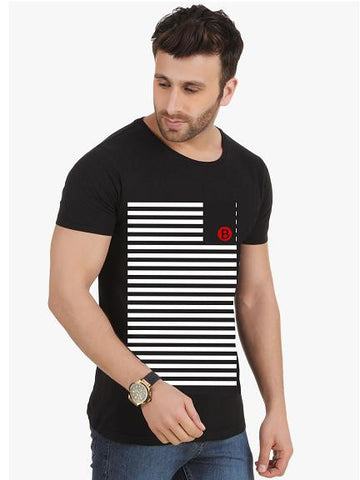 Black with White Stripes T-shirt