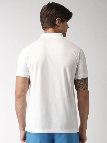 ACTIVE DRY WHITE WITH BLACK STRIPE POLO