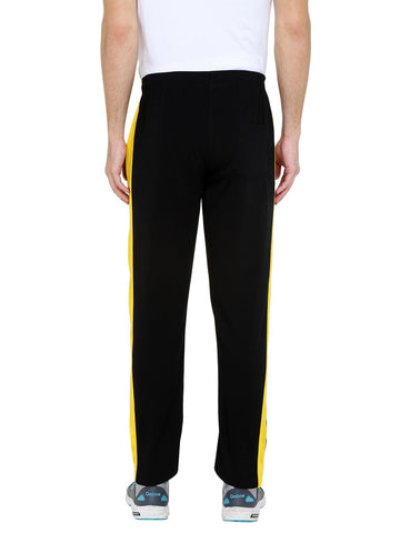Active Side Stripe Joggers - Black/Yellow