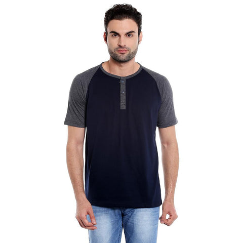 DARK GREY HENLEY TSHIRT