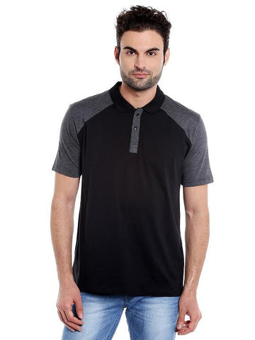 DARK GREY POLO REGLAN TSHIRT