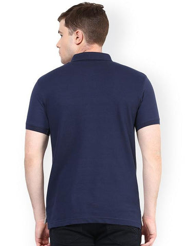 GREY NAVY REGLAN POLO TSHIRT