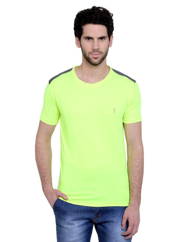 ACTIVE DRY SHOULDER PATCH RN TSHIRT - FLORESCENT GREEN