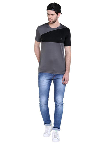 ACTIVE DRY DIAGONAL CHEST PANEL RN TSHIRT