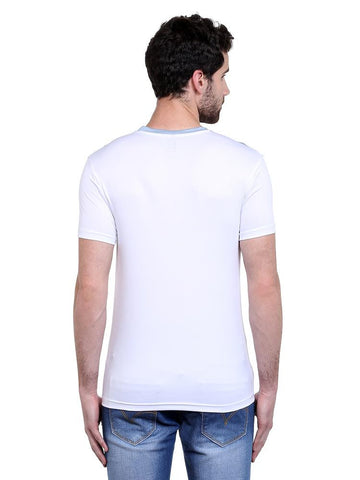ACTIVE DRY CHEST PANEL RN TSHIRT - WHITE