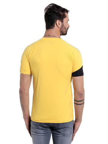 ACTIVE DRY PATCH PATTERN TSHIRT - YELLOW