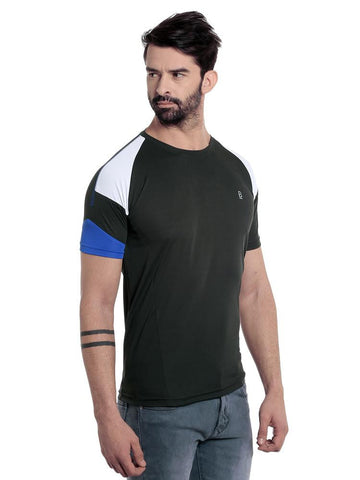 ACTIVE DRY PATCH PATTERN TSHIRT - BLACK