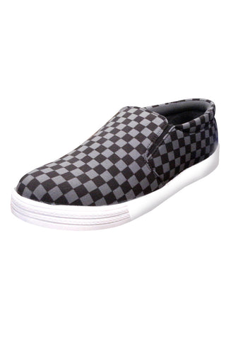Slip On Canvas Shoe - Black Checks