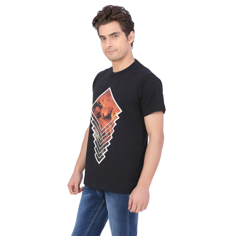 FLAME PRINTED T-SHIRT