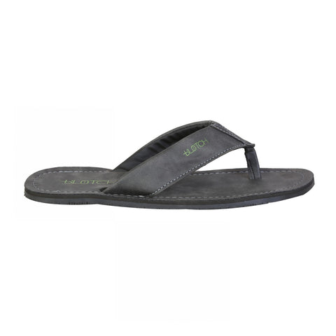 Grey Leather - Flip Flops