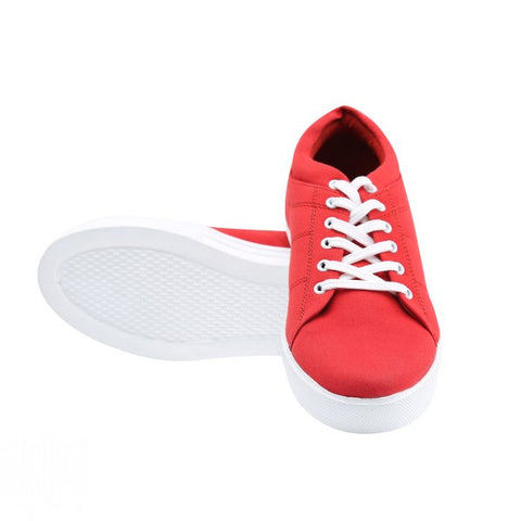Canvas Lace Shoe - Red