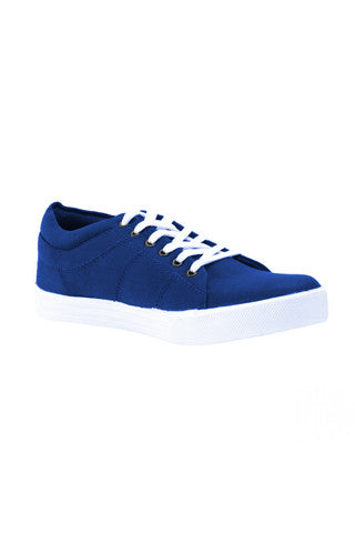 Blue Canvas Lace shoes