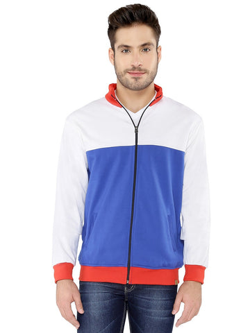 BLUE WHITE RED ZIPPER
