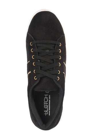 Suede Lace Shoes - Black