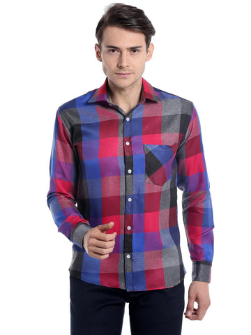 Box Checks Shirt - Red