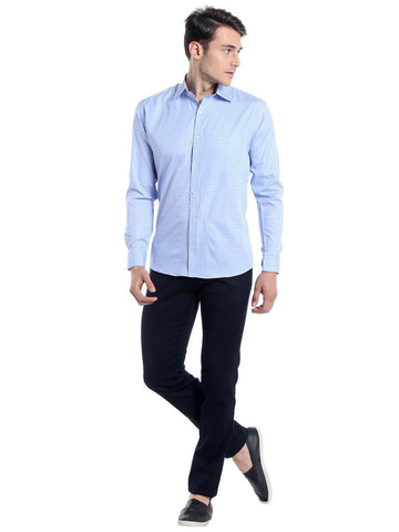 Micro Checks Shirt - Blue